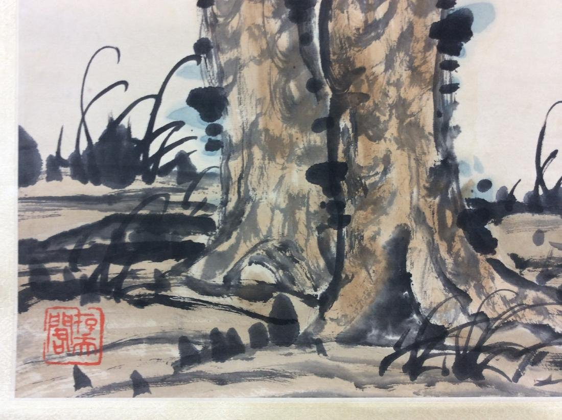 Chinese hand painted hanging scroll. - 5