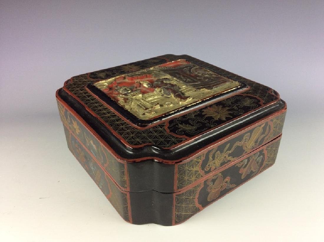 Vintage Chinese lacquer box