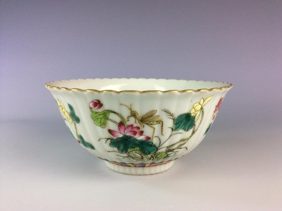 Chinese famillie rose bowl with four seasons - 2