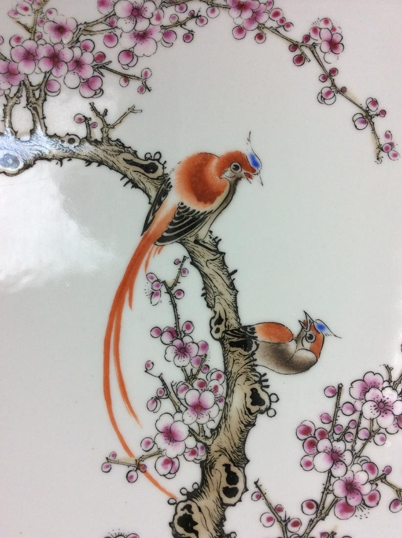 Fine Chinese porcelain plaque,  decorated with figure & - 2