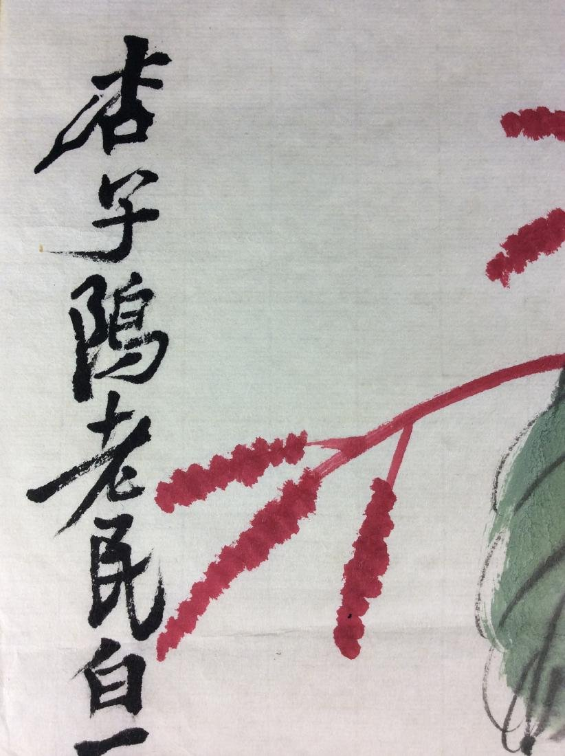 Chinese hand painted painting leaf, water color and ink - 5