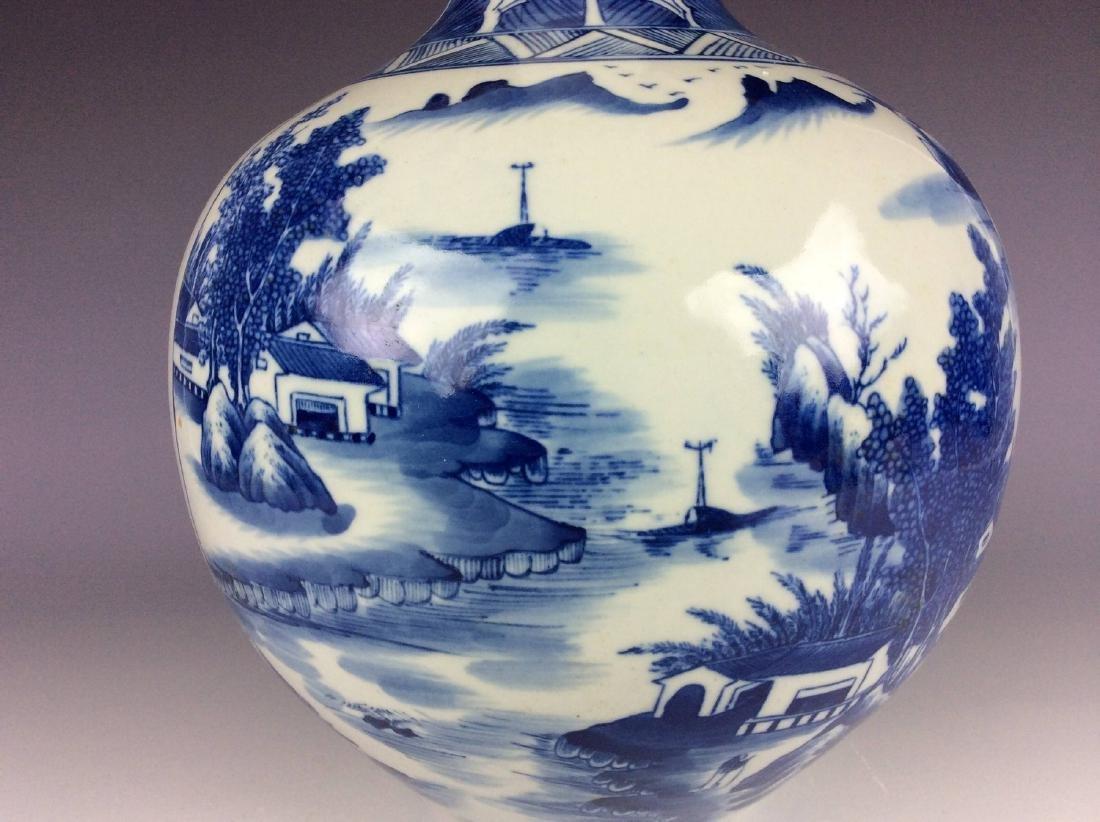 Large vintage Ming style Chinese porcelain censer , - 3