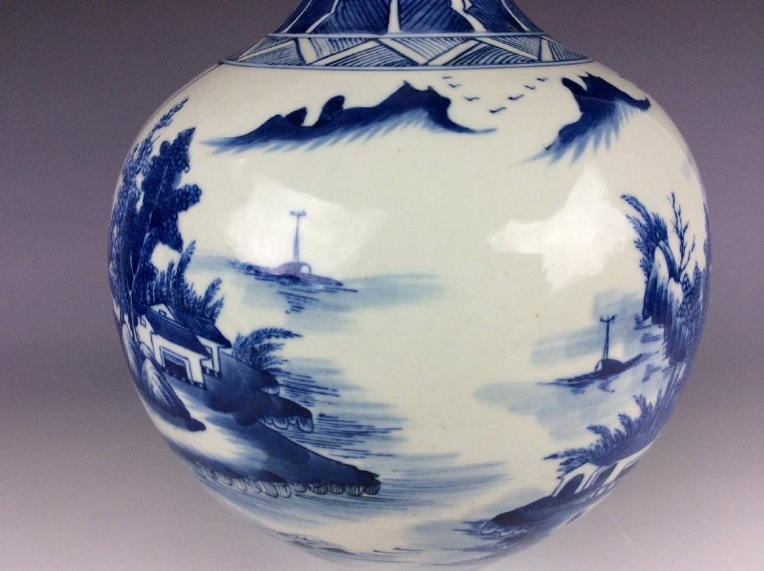 Large vintage Ming style Chinese porcelain censer , - 4