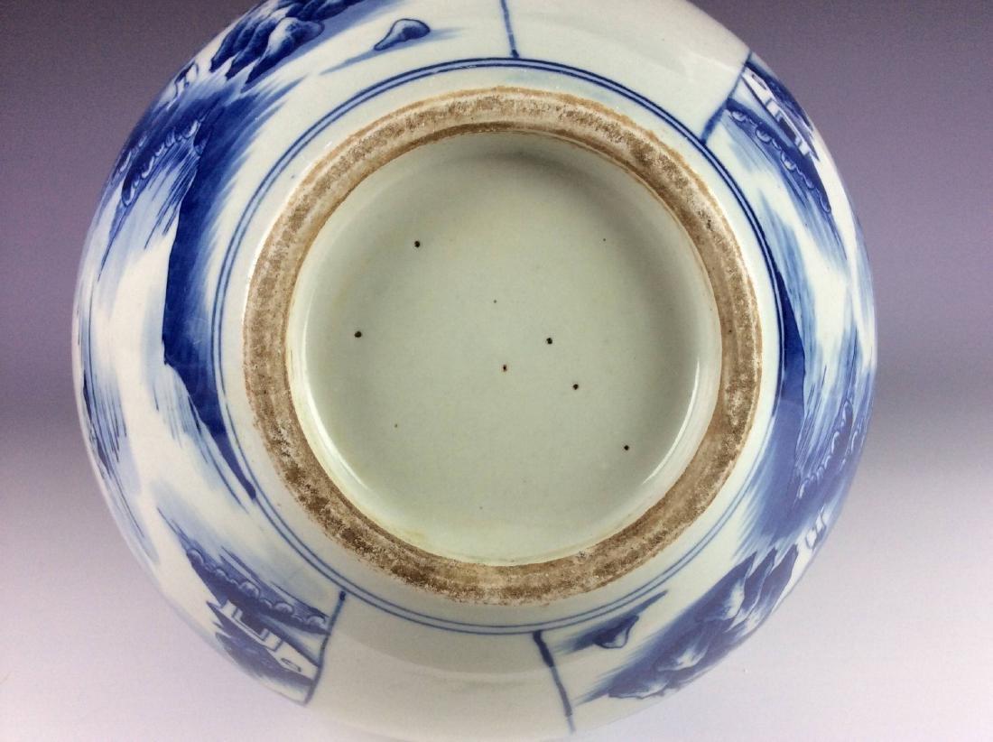 Large vintage Ming style Chinese porcelain censer , - 6