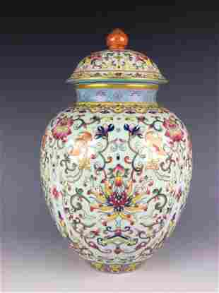 Exquisite Chinese lidded pot with mark