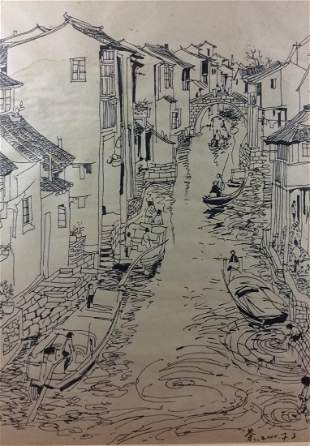 Chinese painting hand painted sketch on paper