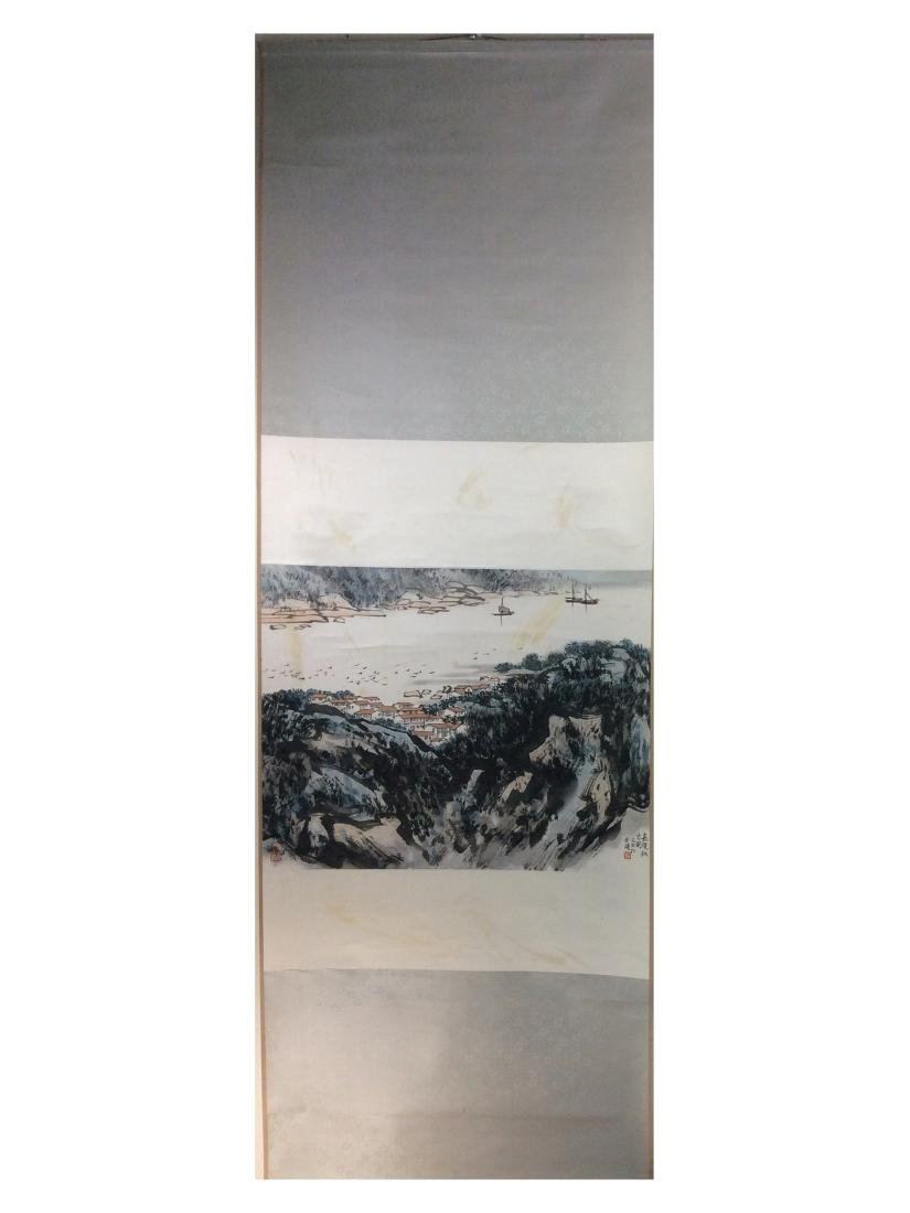Chinese painting hanging scroll - 2