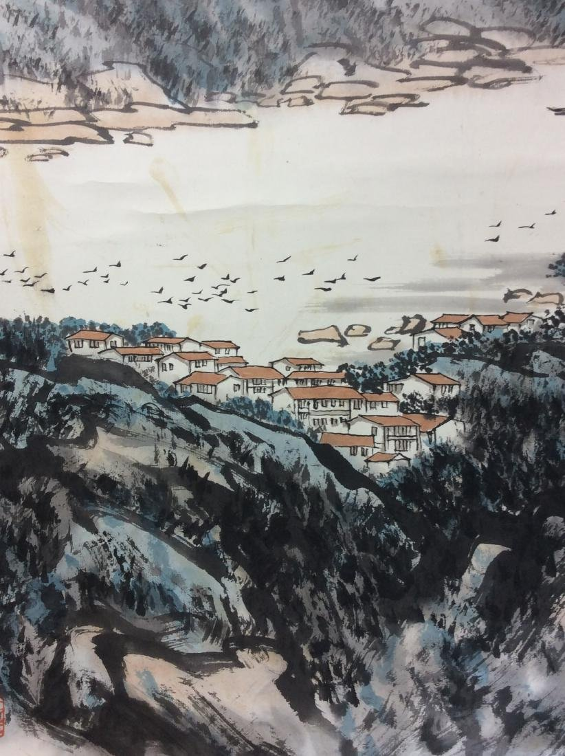 Chinese painting hanging scroll - 4
