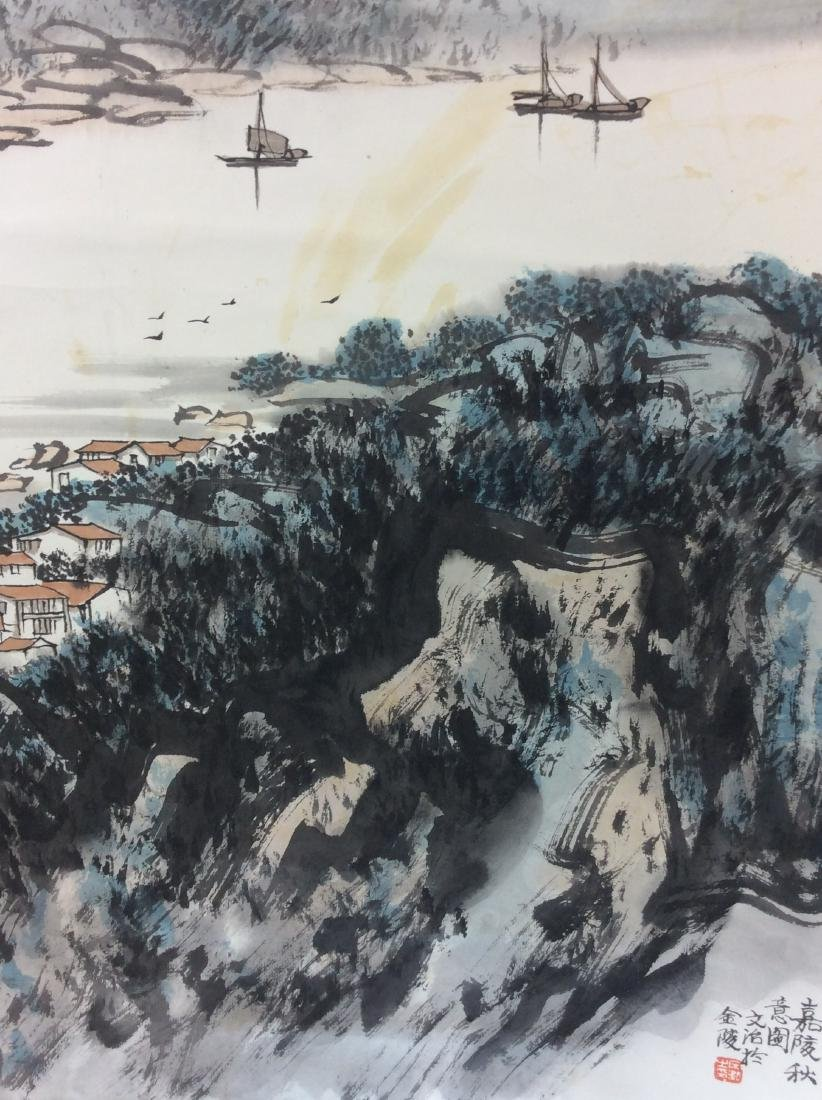 Chinese painting hanging scroll - 5