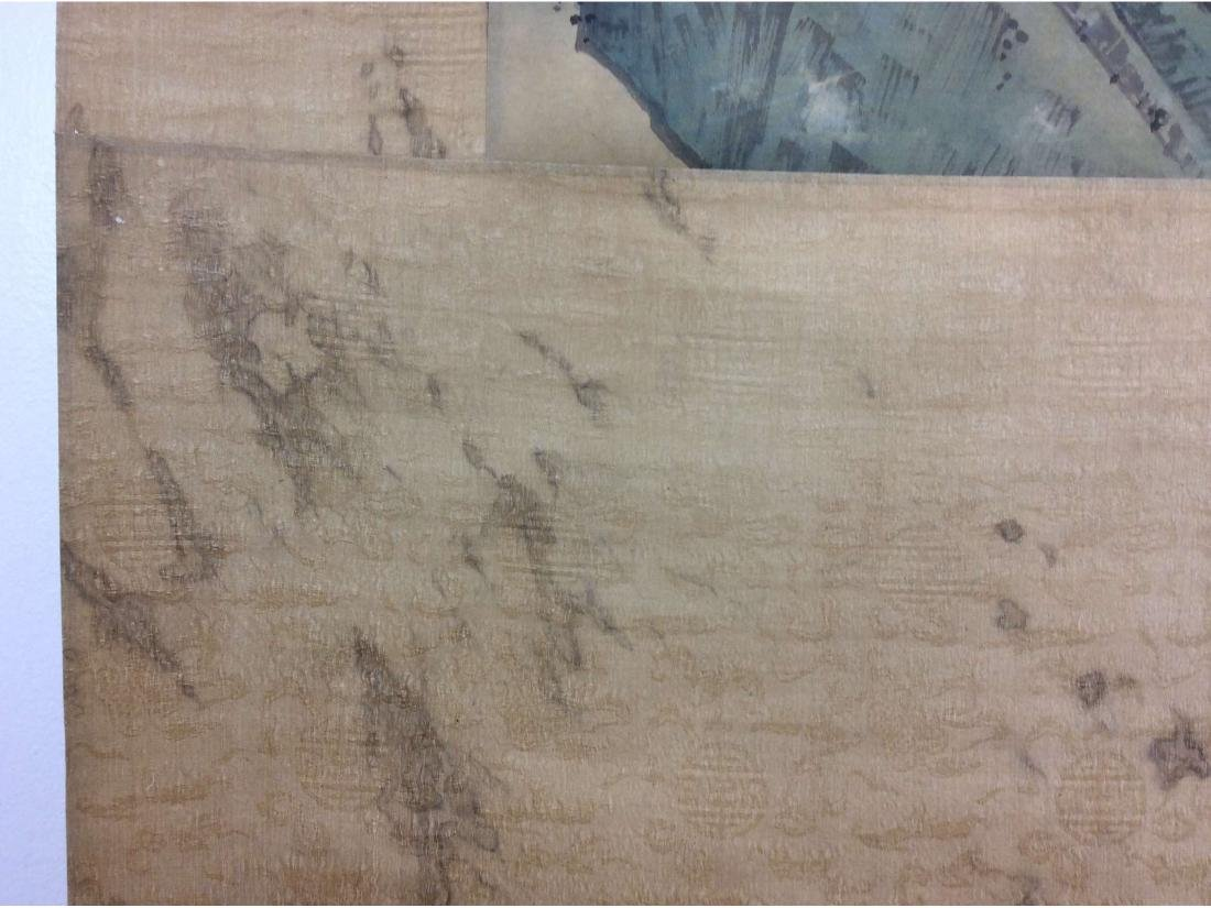 Chinese hand painted hanging scroll. - 6