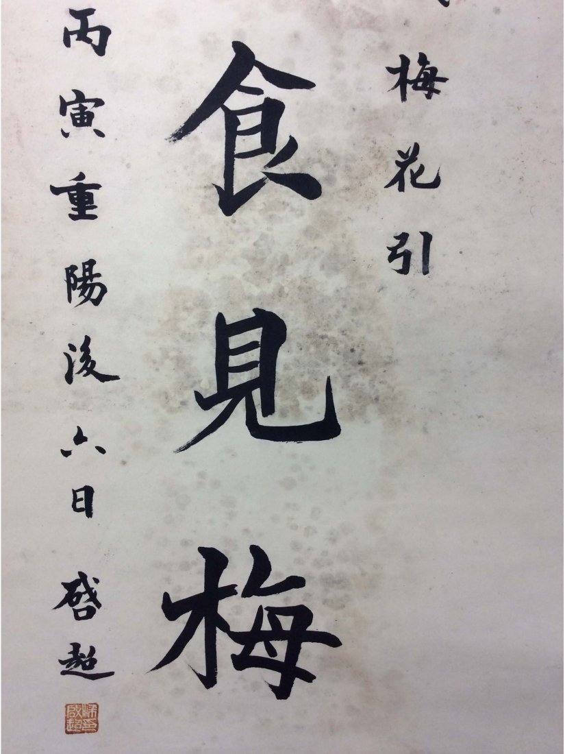 Pair of Chinese Calligraphy scrolls, hand written - 7