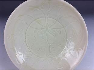 Chinese Song style porcelain dish Ding style white