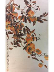 Chinese painting hanging scroll