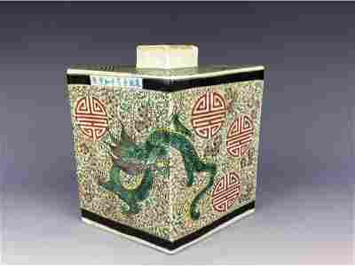 Rare Fine Chinese porcleian jar, Sancai glaze,