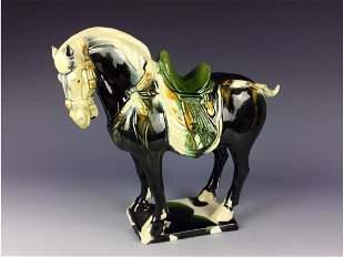 Chinese Tang style horse Sancai glaze decrodated