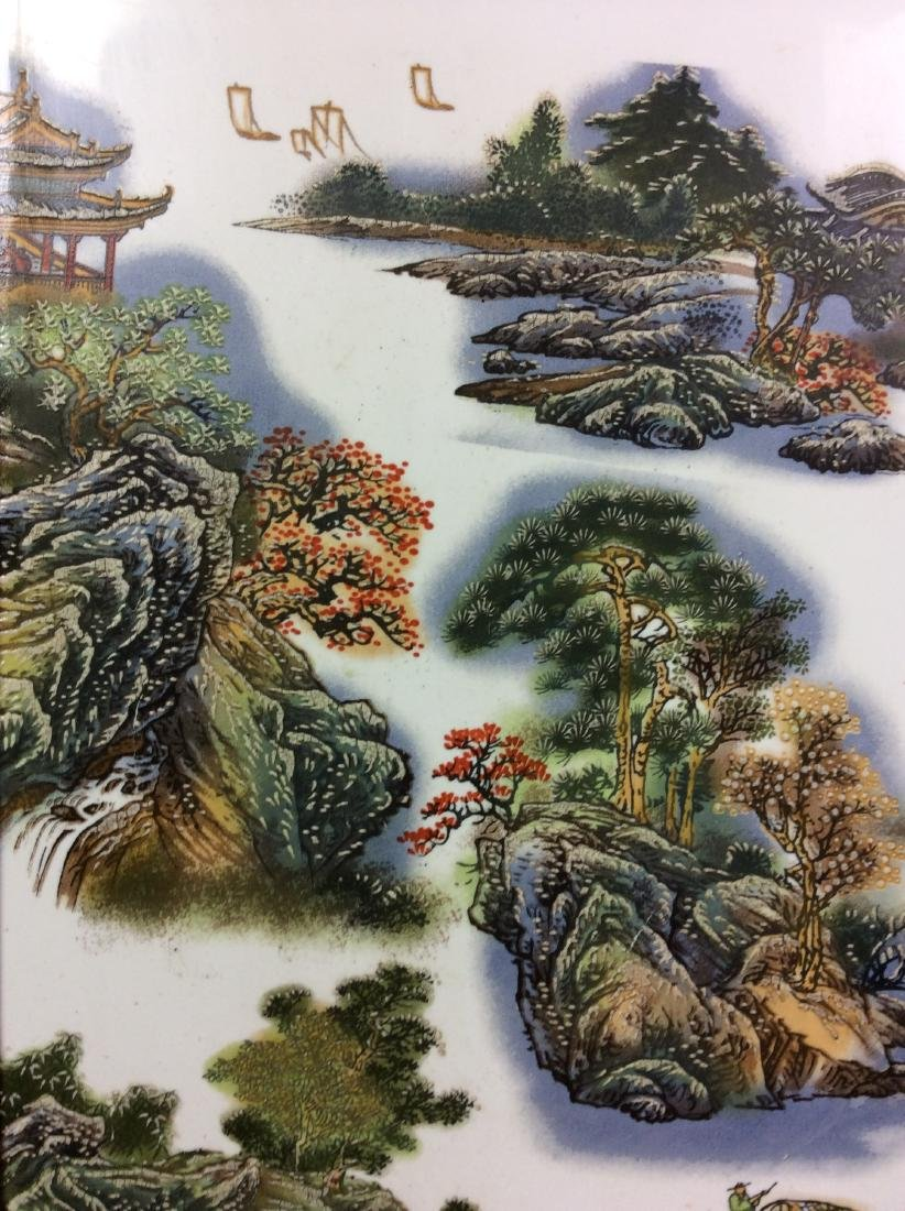 Chinese framed porcelain plaque painted with - 3
