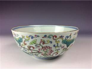 Chinese bowl the exterior and interior have decorative
