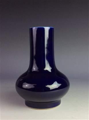 Vintage Qing period Chinese porcelian purpleblue