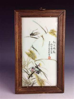 Vintage Republick period Chinese porcelian plaque