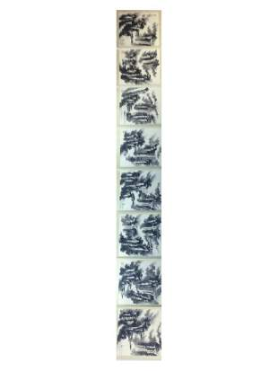 Chinese painting hand painted leaves 8 ndividual