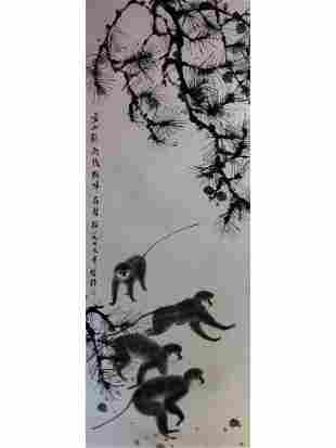 Chinese painting hanging leaf