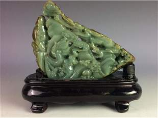 Chinese jade carved table ornament