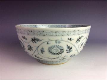 Antique Chinese Ming dynasty Hong-wu period blue and