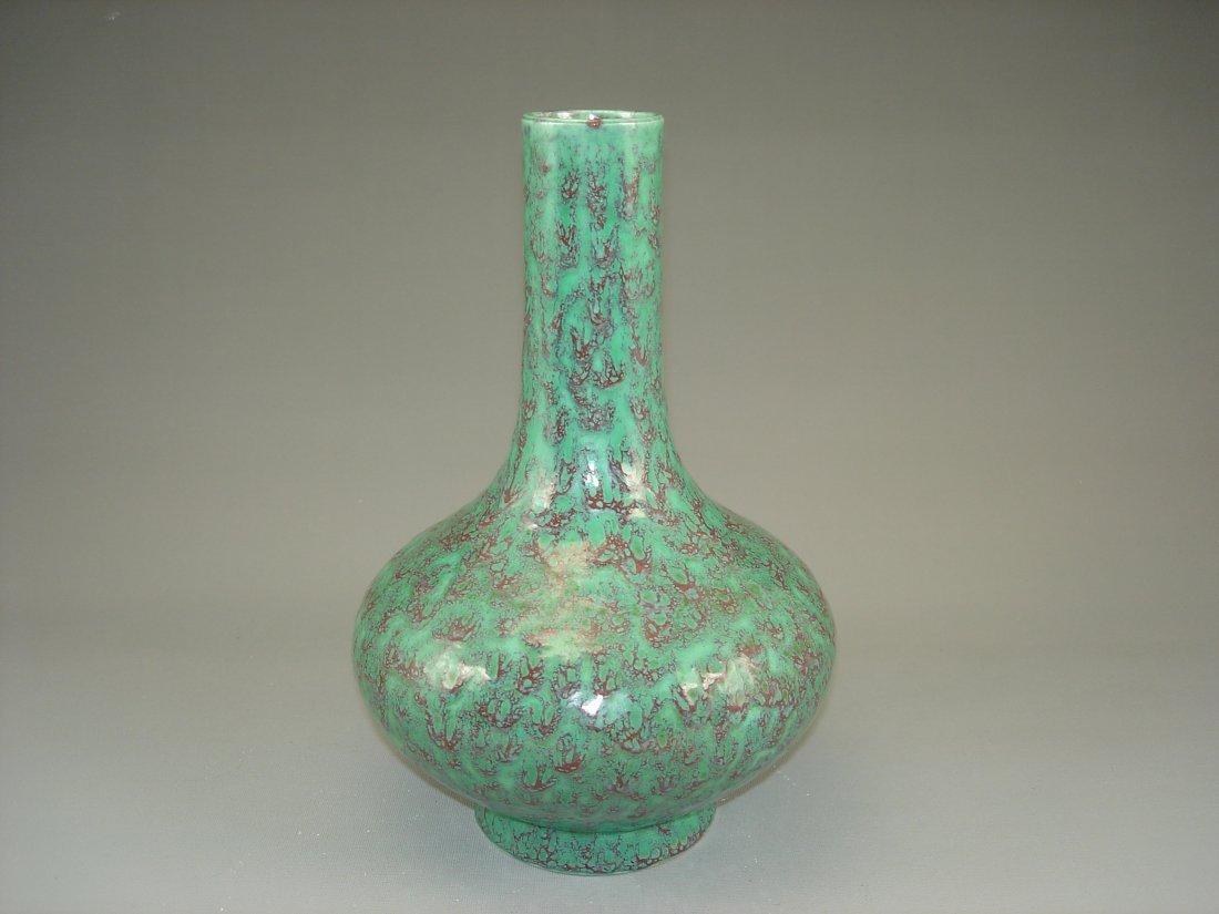 Rare Chinese flambe porcelain vase