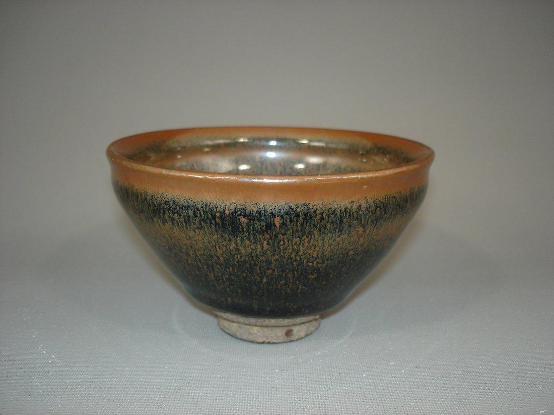 Song Style or Later Jian Kiln Temmoku Tea bowls