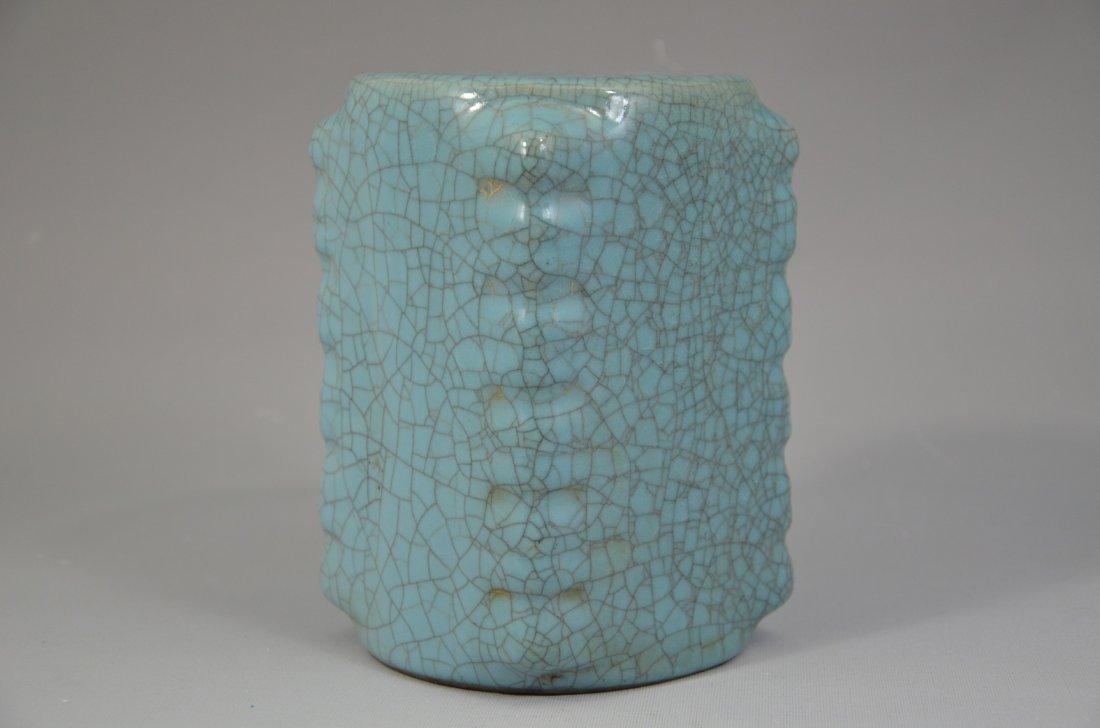 Chinese Song style Guan Kiln Cong Vase