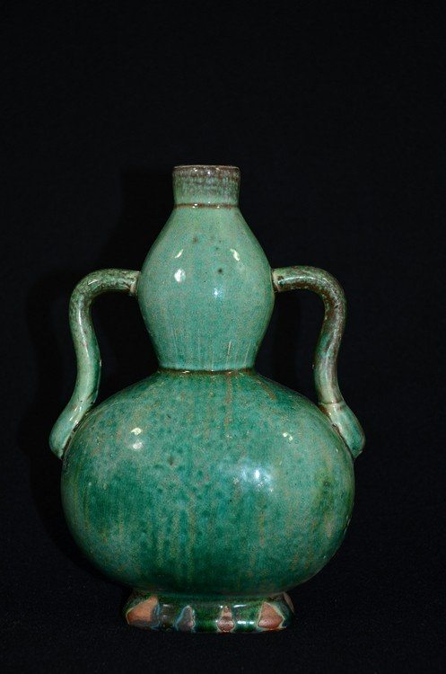 Ming or later Chinese Porcelain  moon-flask form vase