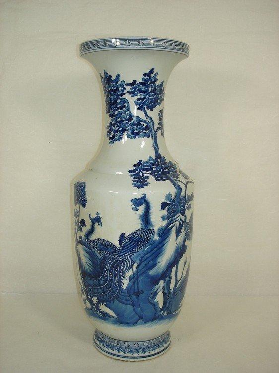 Chinese Porcelain Vase with B/W Phoenix Marked