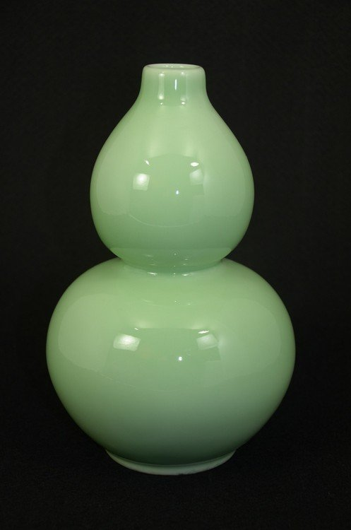 Chinese Longquan Kiln type celadon porcelain double