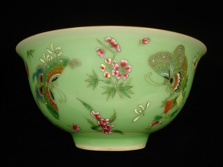 Beautiful Chinese Celadon glazed bowl decorated with