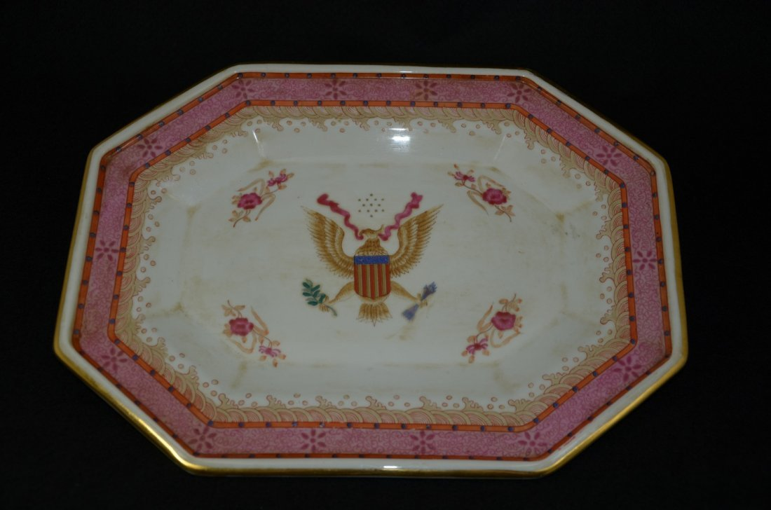Vintage Chinese export porcelain plate with  European