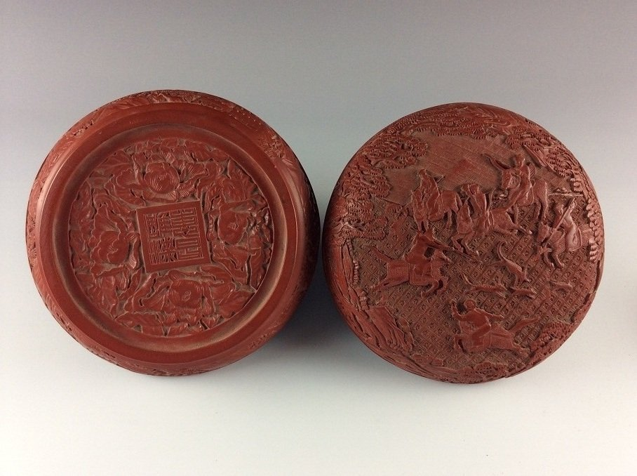 Rare & Fine Chinese Carved Lacquer Box
