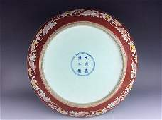 Very rare Ming period, Chinese porcelain charger, Wucai