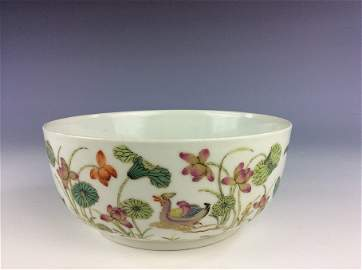 Very rare 19C  Qing period, Chinese porcelain bowl,