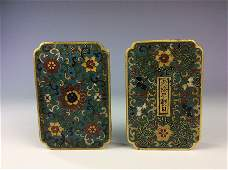 Very rae 18C Chinese cloisonn box, decorated, Qianlong