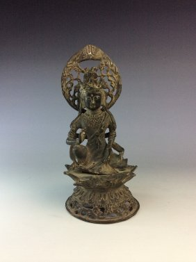 Vintage Chinese Bronze Buddha Figure.