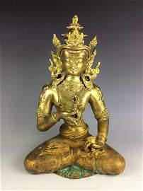 Rare Large vintage Chinese Bronze Buddha
