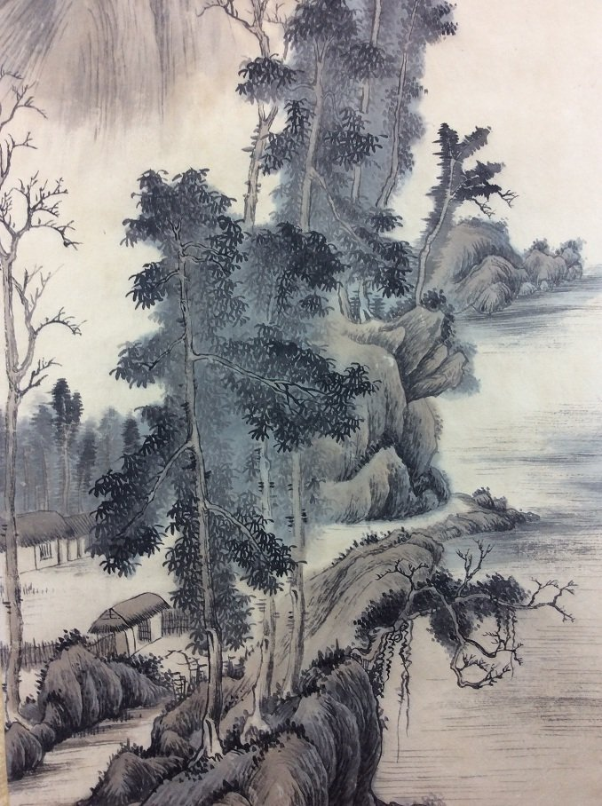 Chinese painting, hand painted scroll, - 3