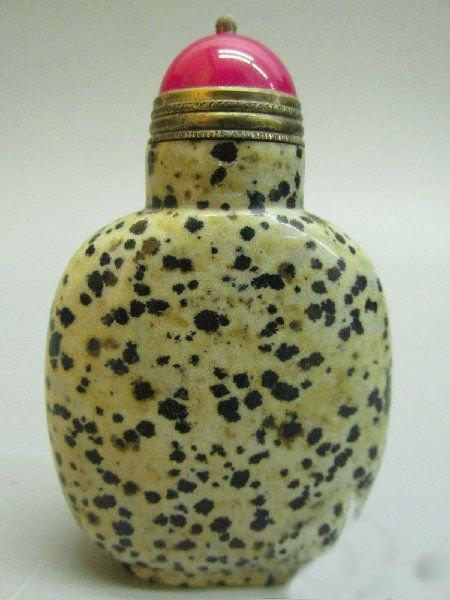 Chinese Natural Leopard Skin Jasper Snuff Bottle