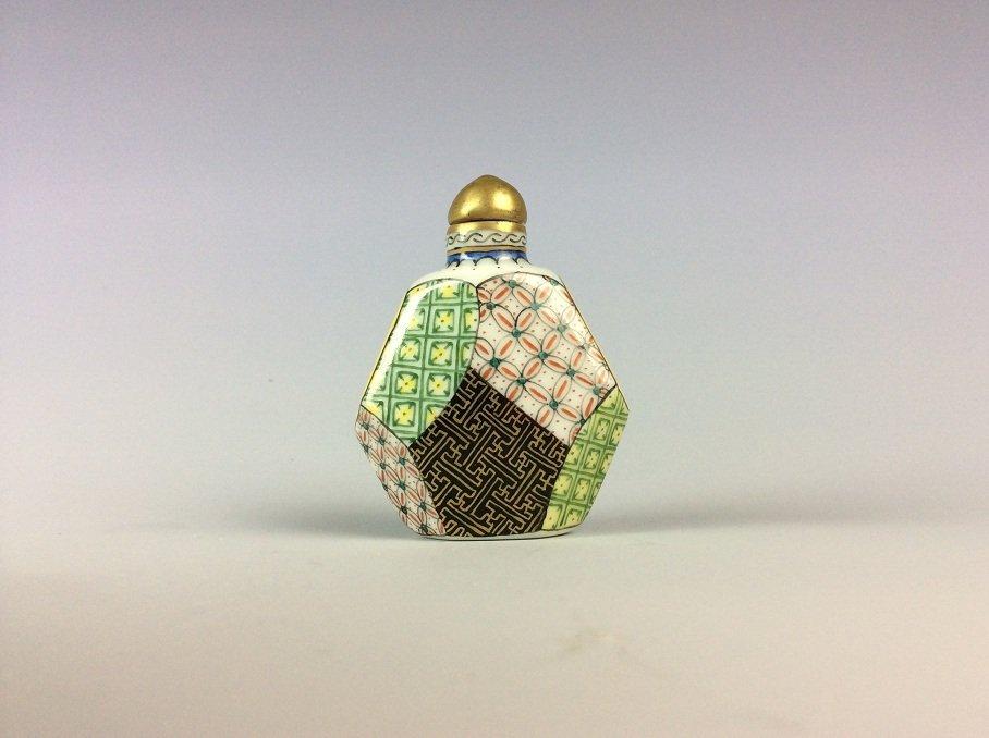 Chinese Polychrome glaze porcelain snuff bottle.
