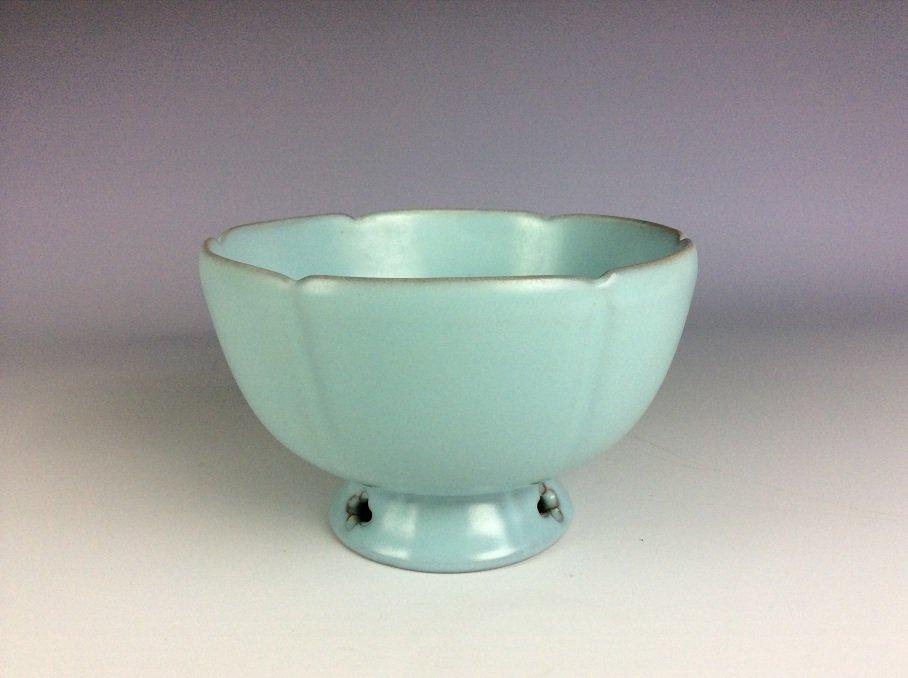 Song style Ru klin Chinese porcelain bowl, - 3