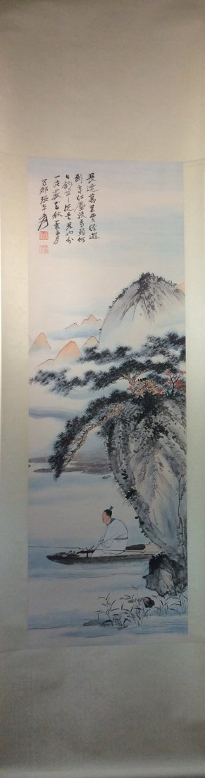 Chinese painting, hand painted,  Hanging scroll - 2