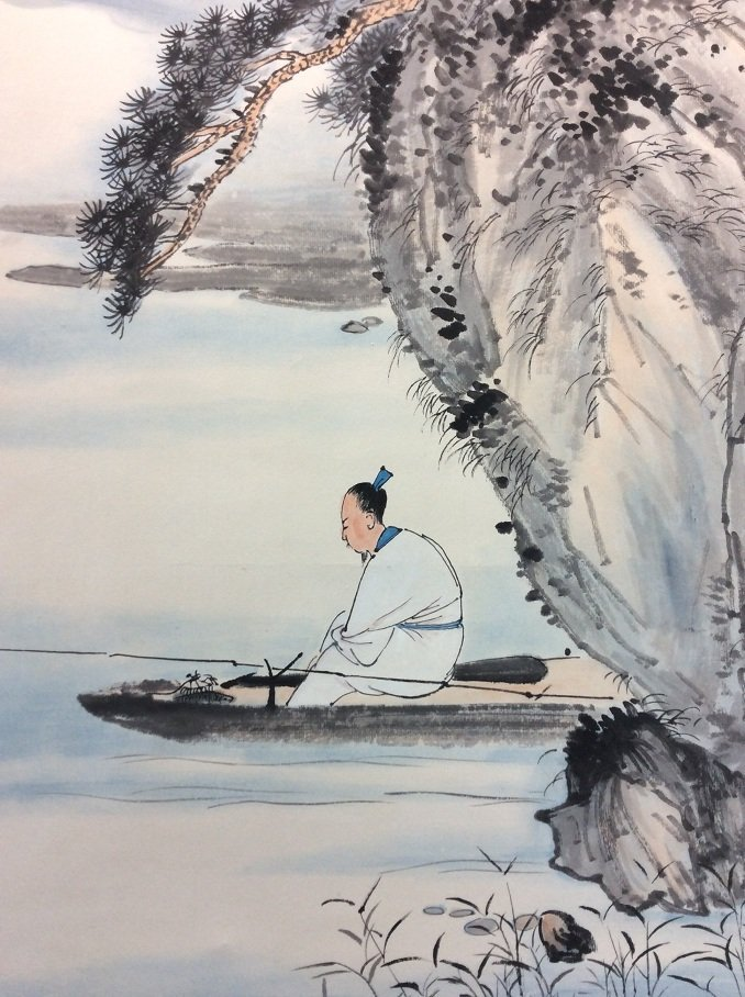 Chinese painting, hand painted,  Hanging scroll - 4
