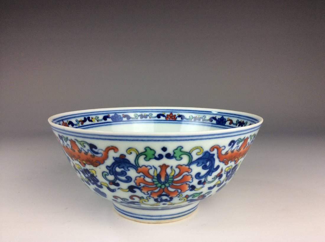 Chinese Doucai porcelain bowl  marked
