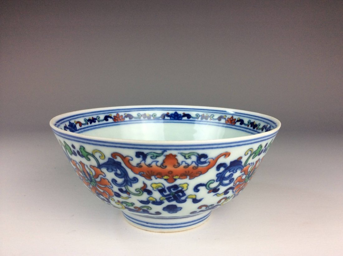Chinese Doucai porcelain bowl  marked - 2