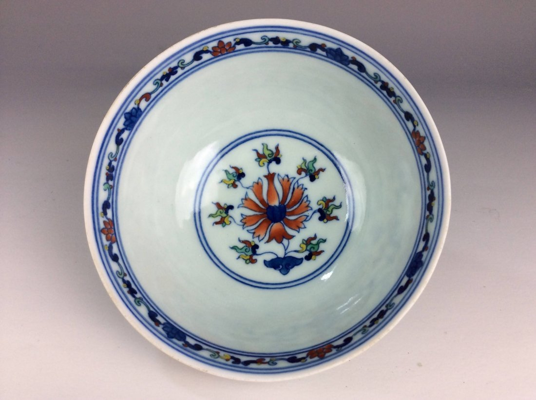 Chinese Doucai porcelain bowl  marked - 3